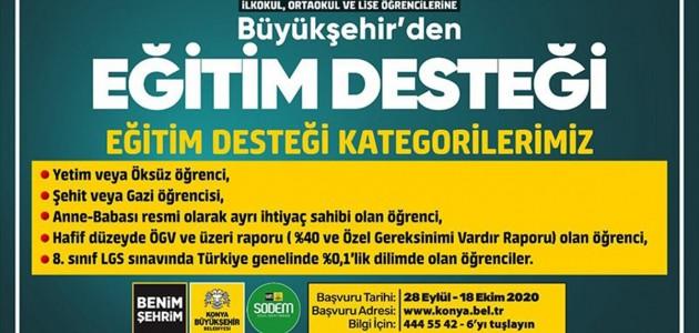 Konya Büyükşehir Belediyesinden Eğitime Destek