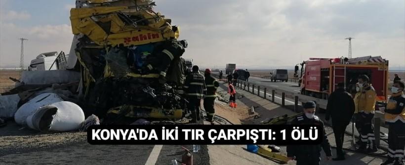 Konya'da Katliam Gibi Kaza, Sürücü Hayatını Kaybetti