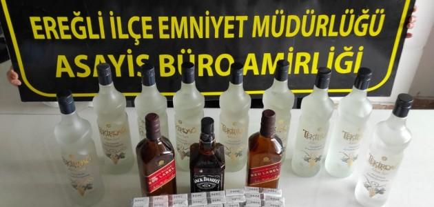 Konya'da Kaçak İçki Operasyonunda 1 Kişi Yakalandı