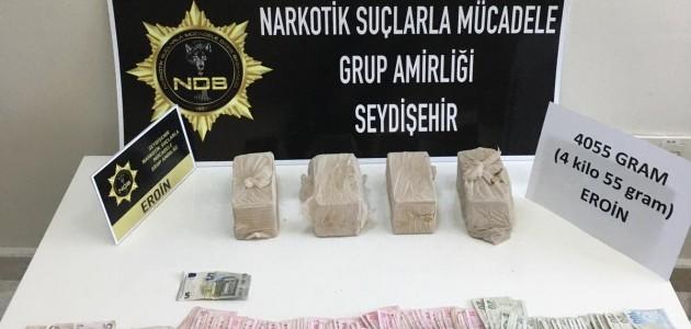 Konya'da 4 Kilo 55 Gram Eroin Ele Geçirildi