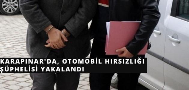 Karapınar'da, Otomobil Hırsızlığı Şüphelisi Yakalandı