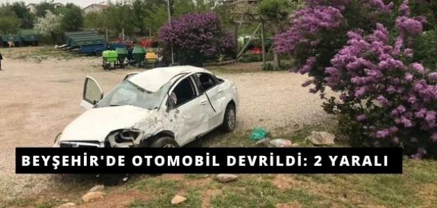 Beyşehir'de Otomobil Devrildi: 2 Yaralı