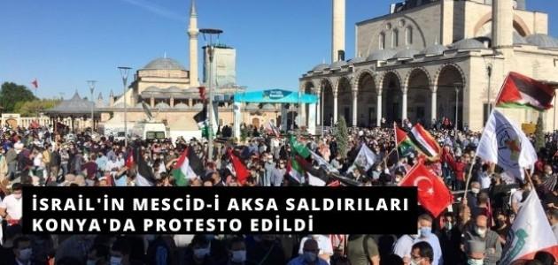 Konya'da Filistin'e Destek Mitingi