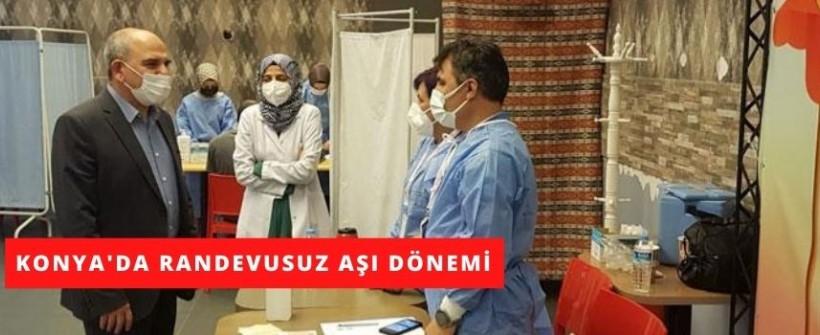 Konya'da Randevusuz Aşı Hizmeti