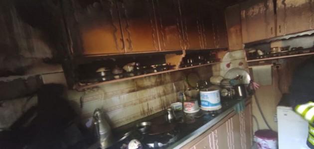 Evde Uyudukları Sırada Mutfakta Yangın Çıktı