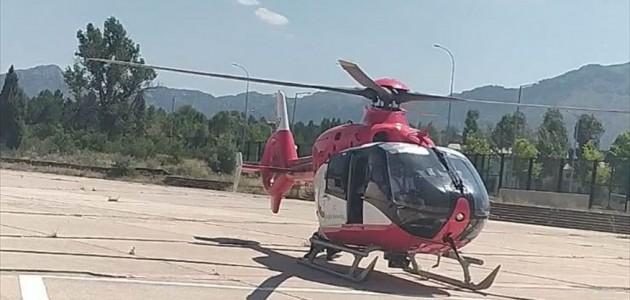 Ambulans Helikopter Bir Can Kurtarmak İçin Havalandı