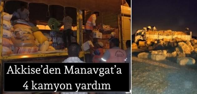 Akkise'den Manavgat'a  4 kamyon yardım