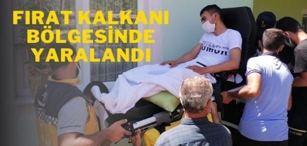 Fırat Kalkanı Bölgesinde yaralanan asker baba ocağında