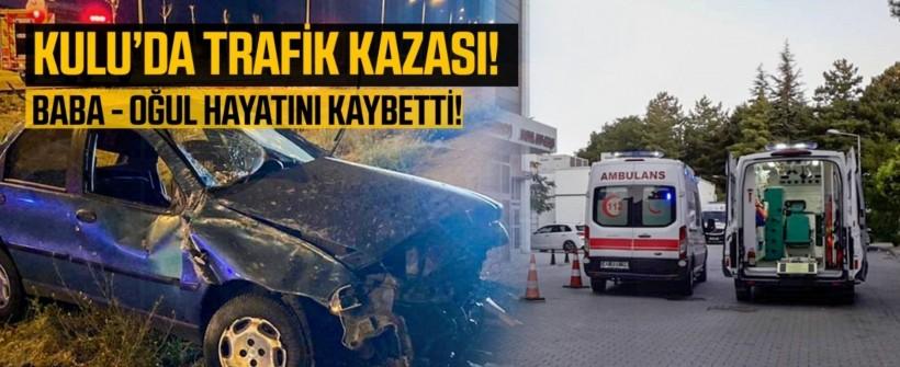Konya Kulu'da otomobil devrildi: 2 ölü, 2 yaralı