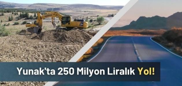 Yunak'ta 250 Milyon Liralık Yol!