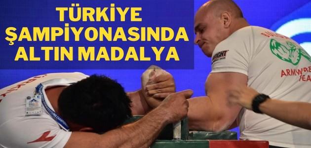 Türkiye şampiyonasında altın madalya