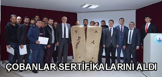 ÇOBANLAR SERTİFİKALARINI ALDI
