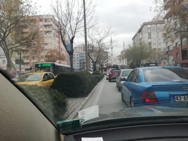 Konya\\\'da Trafik Durdu
