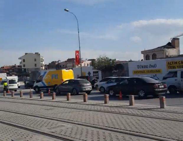 Konya\'da iftar öncesi denetim  trafiği kilitledi